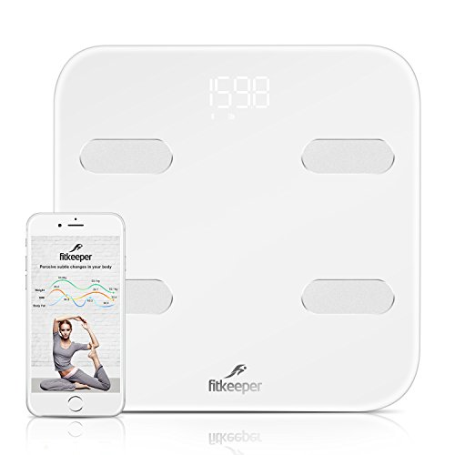 Fitkeeper Smart Body Scale, Bluetooth Digital Smart Body