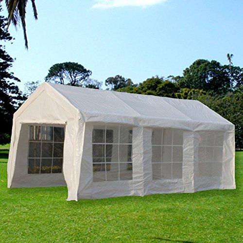 Portable Enclosed Canopy : Snail ft portable carport car canopy storage