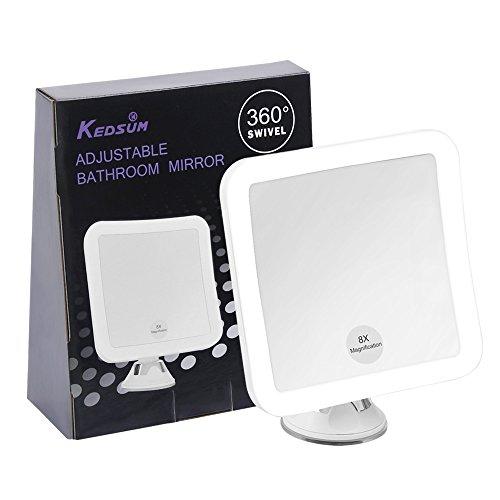 Kedsum 8x Magnifying Led Lighted Makeup Mirror 5 2 Wide