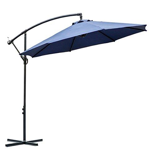 Patio Umbrella For Windy Area: 10 Ft Offset Cantilever Patio Umbrella Outdoor Market